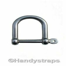 Dee Shackles D Shackle 10 x 6mm Screw Pin Galvanised 1//4Lifting Handy Straps
