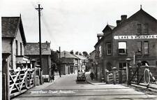 Braunton Caen Street Level Crossing Railway Nr Barstaple unused sepia RP old pc