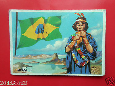Non-sport Trading Cards Figurines Cromos Cards Figurine Sidam Gli Stati Del Mondo 29 Brasile Brazil Flag Refreshing And Beneficial To The Eyes