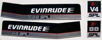 Evinrude V4 Outboard Hood Decals 88 Spl