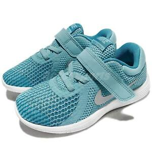 low priced f6821 a5cb0 Image is loading Nike-Revolution-4-TDV-IV-Bleached-Aqua-Silver-