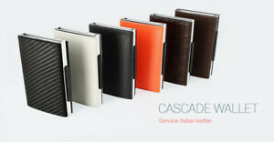 Ogon Designs Cascade Slim Wallet Rfid Card Case Genuine Leather Made In France* by Ögon Designs