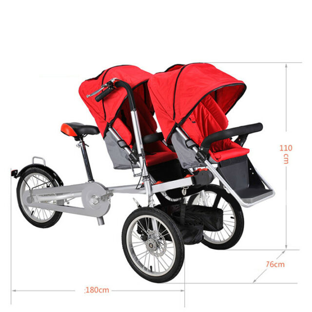 portable Baby Stroller 3 in 1 Bike Mother Folding Carrier single/&twin two seat