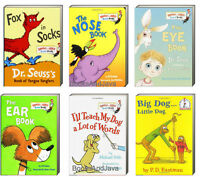 Dr Seuss Fox In Socks,big Dog Little Dog,nose Book+ Bright And Early Board Books