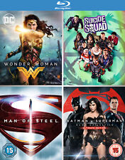 DC 4 Film Collection (Blu-ray) Wonder Woman, Suicide Squad, Batman v Superman