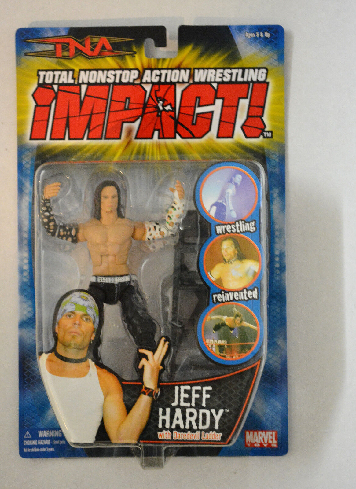 TNA Impact Wrestling Series 2 [2005] Jeff Hardy Figure Marvel New Rare OOP WWE