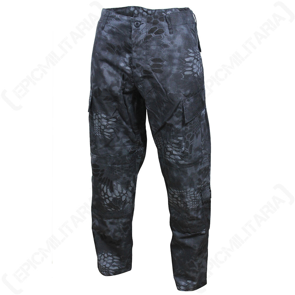 MANDRA Night Camo US ACU Trousers - All Sizes - US Army Military Cargo Pants
