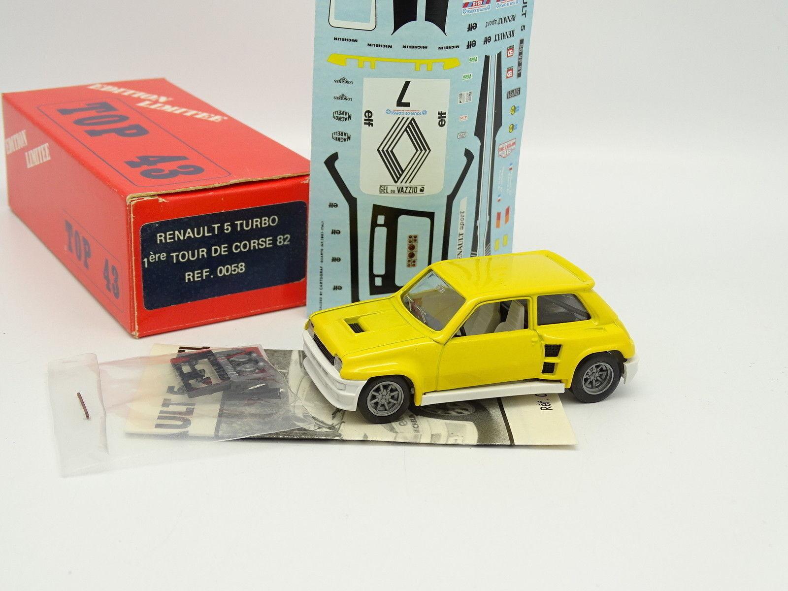 TOP 43 Kit à Monter 1 43 - Renault 5 Turbo Winner Tour de Corse 1982