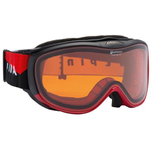 Alpina Skibrille Snowboardbrille CHALLENGE 2.0 schwarz rot QH