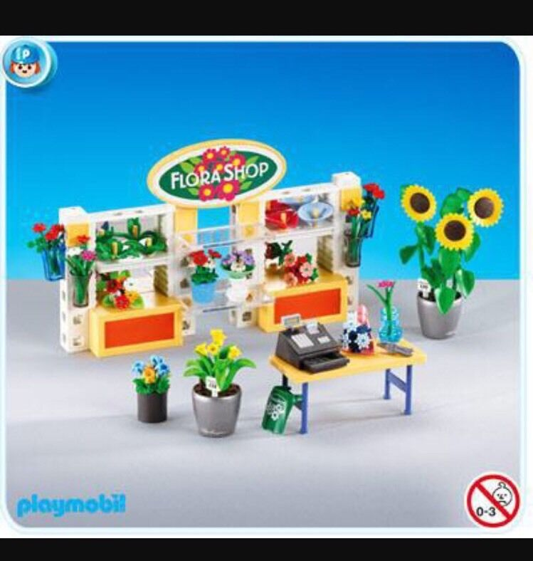 Playmobil 7496 Life In The City Flower Shop Interior Set Nuovo In Borsa Add-on