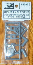 """Tichy Train Group #8292 (HO Scale) Right Angle Vents 3'x5'x16"""" to Scale (Plastic"""