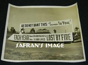 Vintage CAMP GORDON Georgia Fire Prevention CASKET Photo Funeral Collectors L@@K