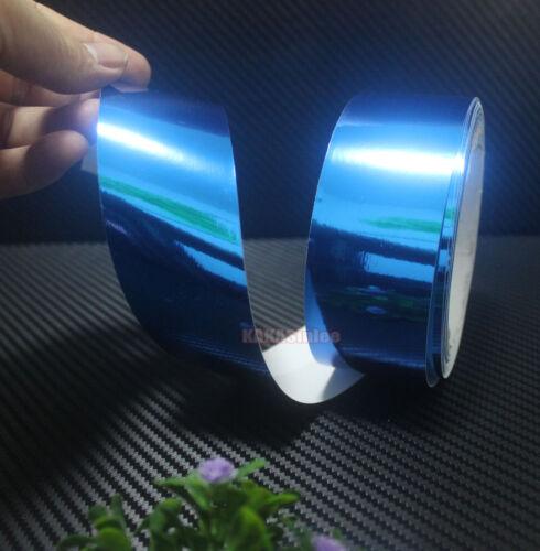 DIY Glossy Mirror Chrome Vinyl Wrap Tape Sticker for Car Phone Home Decal CF