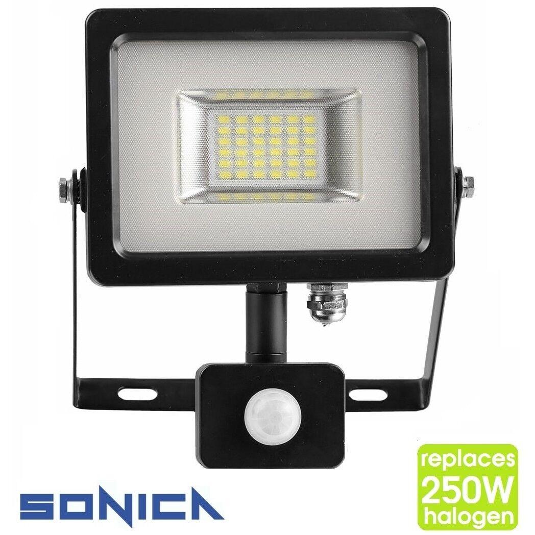 SLIM PIR Motion Sensor LED Outdoor Floodlight IP65 Security Flood Lights   50W