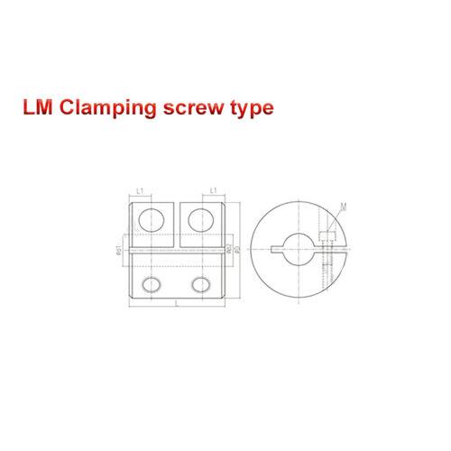 Starre Kupplungen Wellenkupplung D20 D25 D30 D40 4mm~22mm Bore CNC Schrittmotor