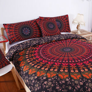 Details About 5pcs Bed In A Bag Home Bedding Set Bohemian Printed Cover Twin Full Quee