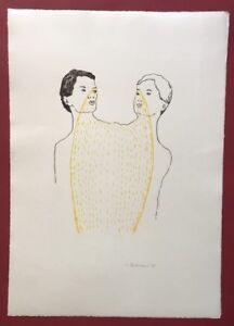 Ingrid Beckmann, siamesi, farblithographie, 1997, a mano firmata e datata