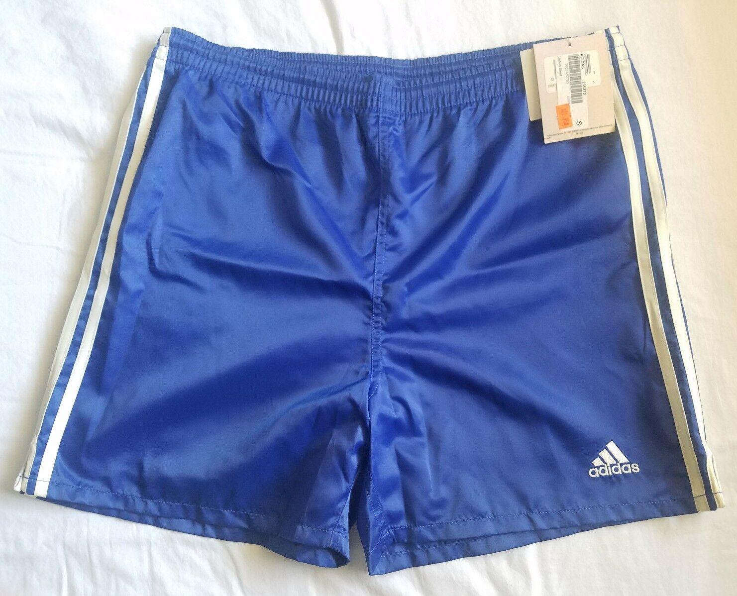 Vtg Adidas  Lisbon Glanz Nylon Shiny Satin Soccer Shorts New With Tags Small  hastened to see