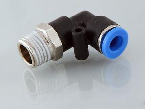 1/2 Bsp Mâle -8mm Plastique Poussoir Pivotant En Raccord Coude Avec Griffe S/s