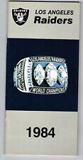 1984 Los Angeles Raiders NFL Football Media GUIDE