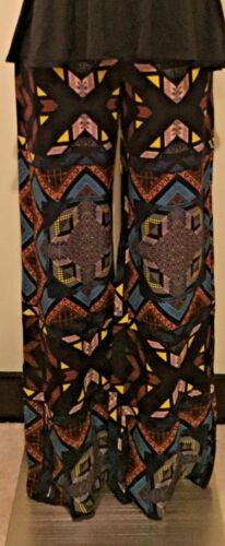 Rare Nwt gamba Multi Ella Breezy fantasia larga Flare Colorato Pants Moss Small w4vUrnqw