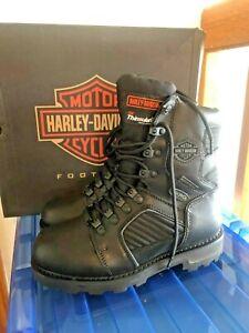 Harley-Davidson-Men-039-s-Leather-Waterproof-Boots-Shoes-7M-7-M-Black-FXRG5-FXRG-5