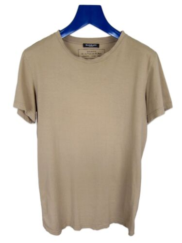Balmain Dune Khaki Distressed Military T-Shirt AW1