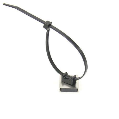 Haftkraft 6 kg Magnet Edelstahl-Kabelbinder Magnethalter 26 x 23 x 6,3 mm