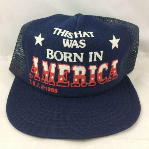 VTG This Hat Was Born In America Mesh Trucker Cap