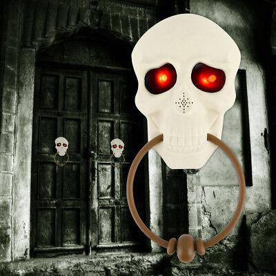 Halloween Skull Doorbell Eye Scary Light Sound Door Bell Props Decoration Party