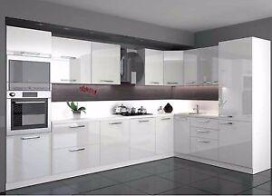 Küche L Form Hochglanz 340 x 220 cm mit Geräten.   eBay
