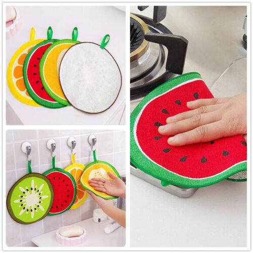 Fruit Printed Microfiber Multifunction Kitchen Hand Towel Cleaning Rag Dishcloth