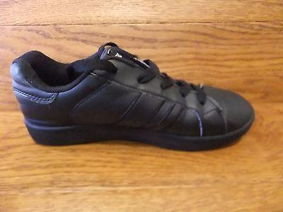 Donnay Deuce Negro Cuero Clásico Zapatillas Size UK 5 EUR 38