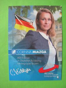 Autogrammkarte - Corinna Miazga - AfD - orig. autograph