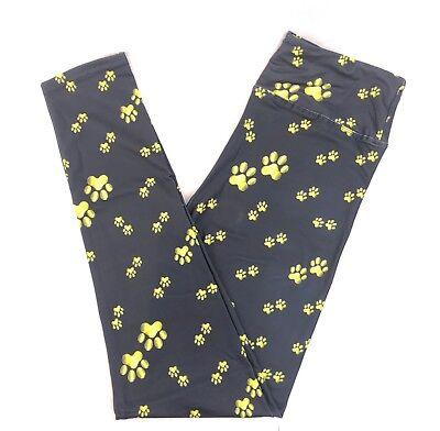 GOLDEN PUPPY DOG PAWS CUSTOM DESIGN BUTTER SOFT 92//8 YOGA BAND LEGGINGS