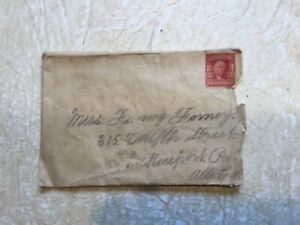 George-Washington-2-Cent-Stamp-Red-1732-1799-RARE-amp-envelop-Dec-17-1903-lot