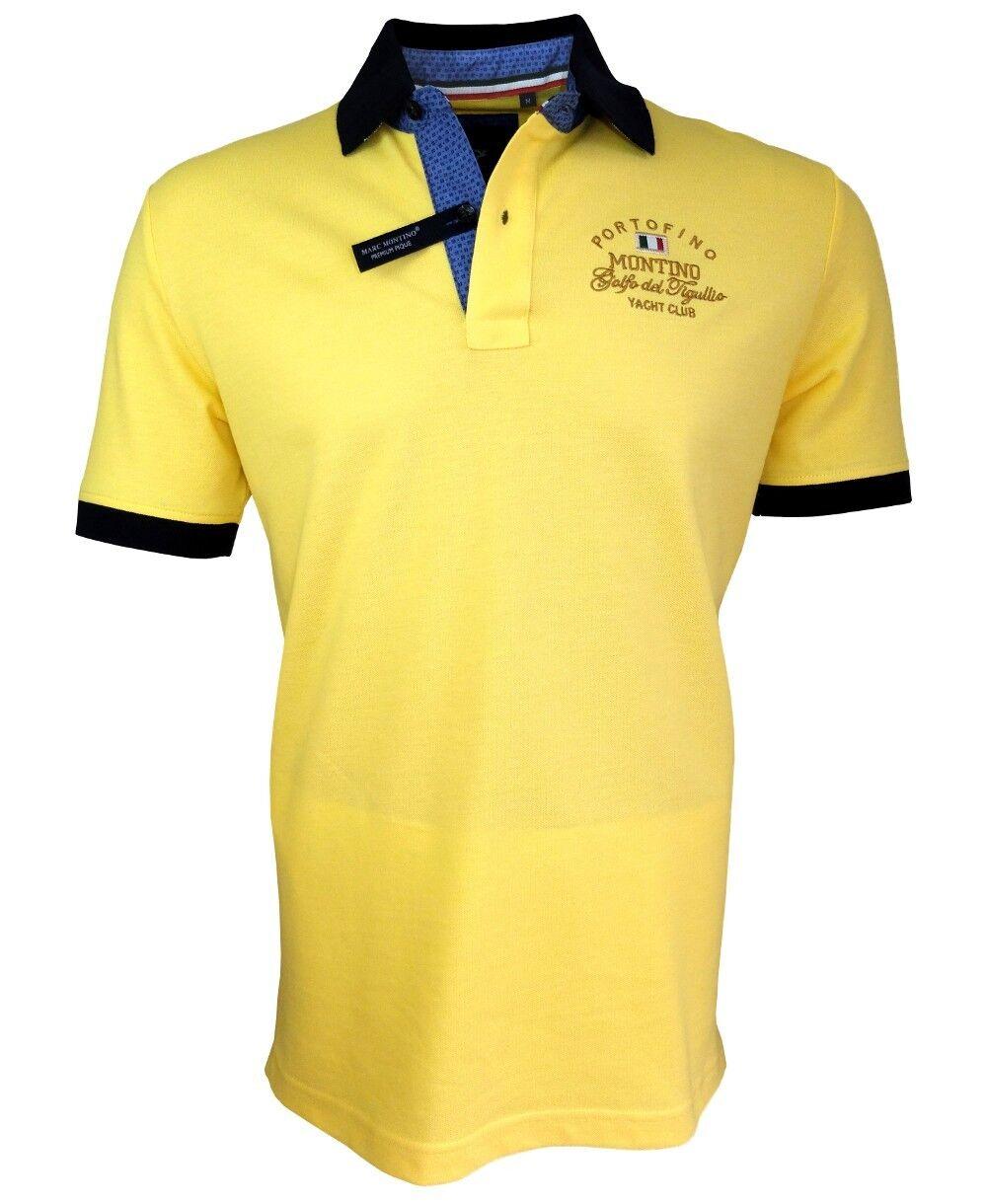 Marc  montino señores camiseta polo amarillo marine talla L XL piquè Premium  apresurado a ver
