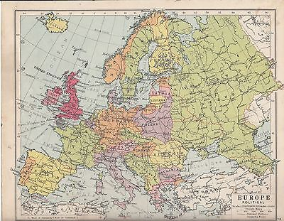 Map Of Spain And United Kingdom.1931 Map Europe Political United Kingdom France Iltaly Poland Spain Etc Ebay