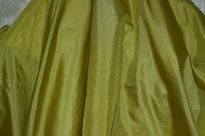 "Chartreuse Tissue Taffeta, 100% Silk Fabric, 44"" Wide, By The Yard (TS-7310)"