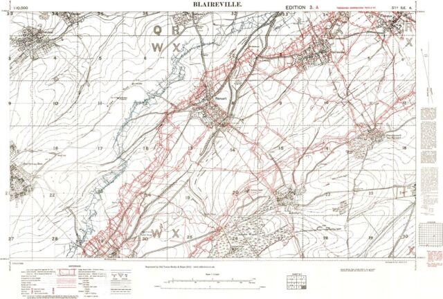 Trench Map Ww1 Blaireville February 1917 1 10 000 Scale Repro for ...