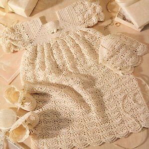 b40dd20229fe Image is loading Crochet-Pattern-Copy-Baby-Heirloom-Open-Crescent-Newborn-