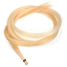 """1x Bianco Hank 4/4 VIOLINO i capelli con fiocco-Alta Qualità Capelli mongolo Cavallo 80cm/32"""""""
