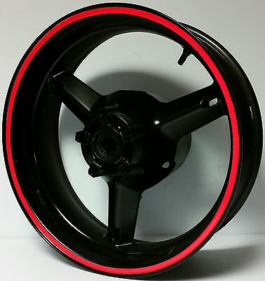RED REFLECTIVE WHEEL STRIPES RIM STICKERS TAPE DECALS HONDA CBR 600 F F2 F3 F4i