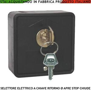 Selettore chiave automatismi serranda cancello parete apri stop chiude elettrico ebay - Serranda elettrica casa ...