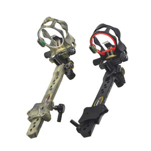 1-Pin CNC Archery Compound Bow Sight with Micro Adjustable Long Pole