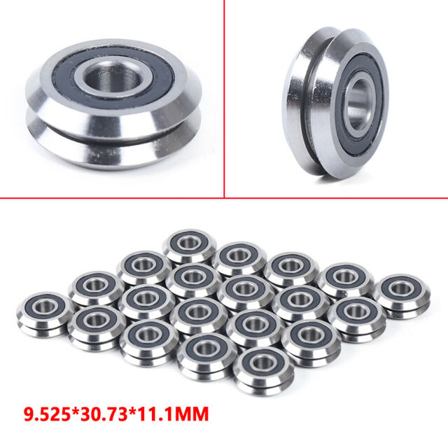 """RM2-2RS 3//8/"""" V Guide Sealed Groove RM2RS Deep Groove Radial Ball Bearings"""
