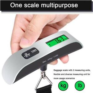 50kg Digital Luggage Scale Held Weighing Weight Suitcase Travel Scale Hook New