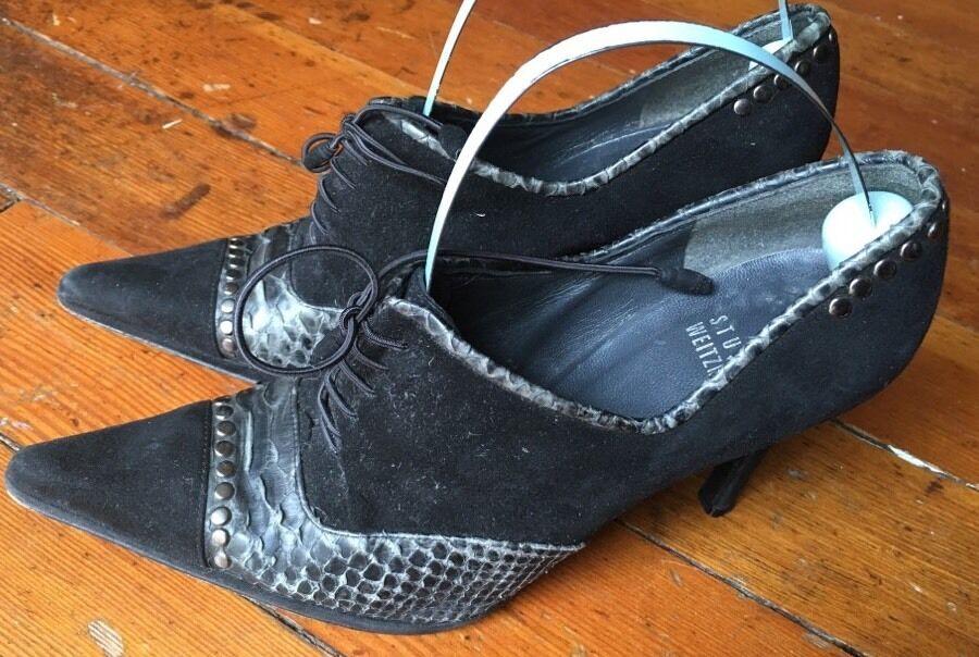 vendita online STEWART WEITZMAN WEITZMAN WEITZMAN nero Suede PLATFORM stivali avvioies Heels scarpe donna SZ 6  vendita online sconto prezzo basso