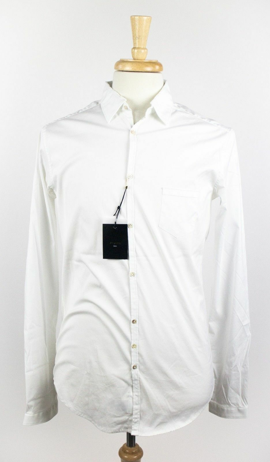Nwt Aglini Aglini Aglini Weiß Baumwollmischung Freizeit Knöpfe Langärmeliges Top Größe | Innovation  5fef5d