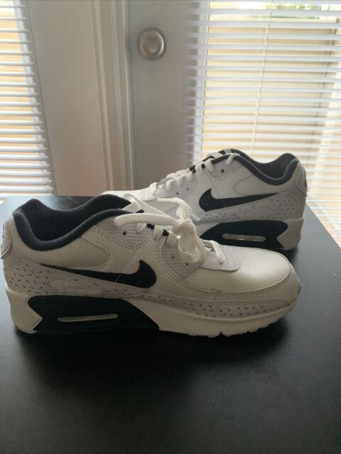 Nike Air Max 90 GS Swooshfetti White/black Dc9198-100 Size 7y ...